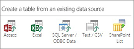 Existing Data Source